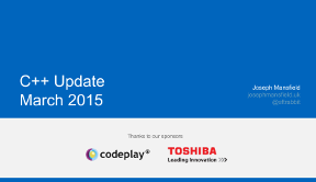 Slides for C++ Update March 2015